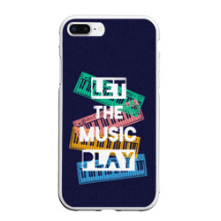 Чехол для iPhone 7/8 Plus матовый LET THE MUSIC PLAY (Z)