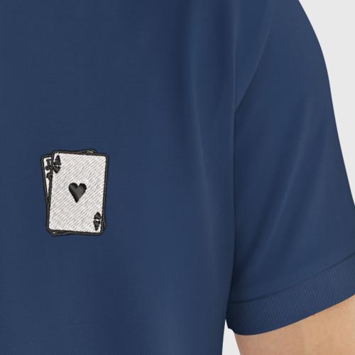 Мужское поло хлопок с вышивкой карты Фото 01