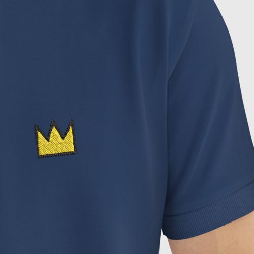 Мужское поло хлопок с вышивкой Корона Баския Фото 01