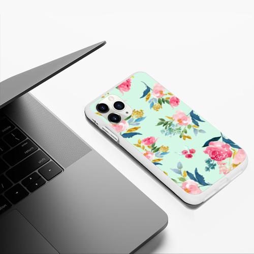 Чехол для iPhone 11 Pro Max матовый Цветы Фото 01