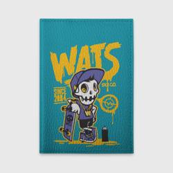 Граффити Wats (череп в кепке)