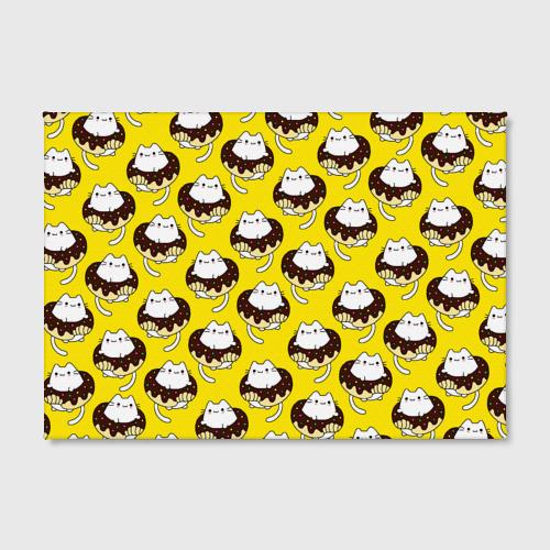 Холст прямоугольный Котики в пончиках Фото 01