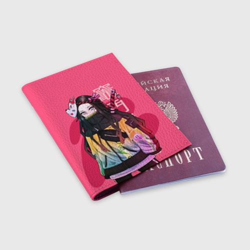 Обложка для паспорта матовая кожа Нэдзуко Камадо Фото 01