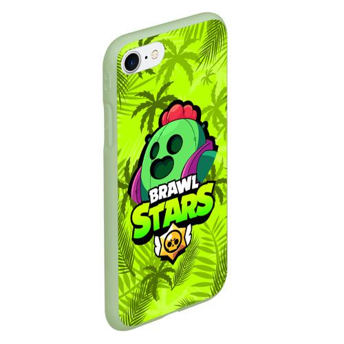 Чехол для iPhone 7/8 матовый BRAWL STARS SPIKE | СПАЙК Фото 01