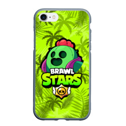 Чехол для iPhone 7/8 матовый BRAWL STARS SPIKE | СПАЙК