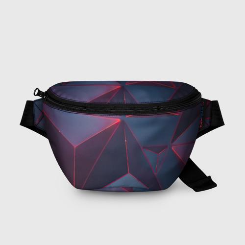 Поясная сумка 3D Неоновый треугольник. Фото 01