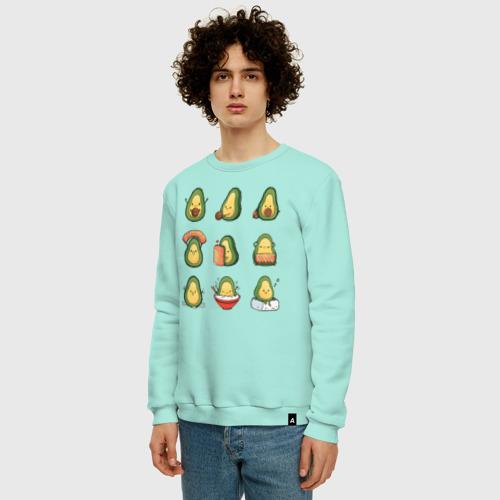 Мужской свитшот хлопок Life Avocado Фото 01