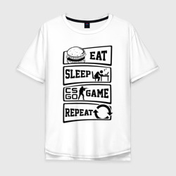 Eat Sleep CS GO repeat