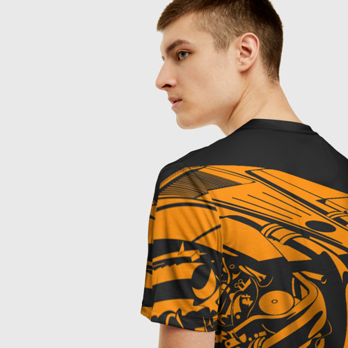 Мужская футболка 3D Сердце - пламенный мотор Фото 01