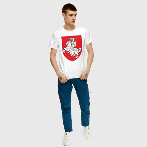 Мужская футболка хлопок Герб Беларуси Фото 01