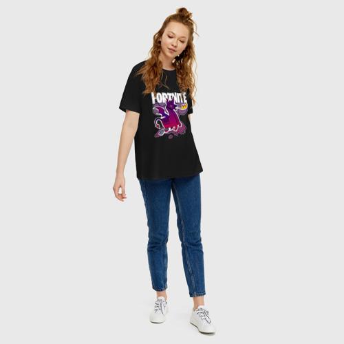 Женская футболка хлопок Oversize DEVIL LAMA Fortnite Фото 01