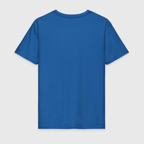 Мужская футболка хлопок Синий экран Фото 01