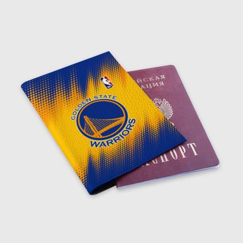 Обложка для паспорта матовая кожа Golden State Warriors Фото 01