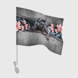 Пантера и цветы