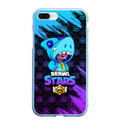 Чехол для iPhone 7Plus/8 Plus матовый BRAWL STARS LEON SHARK