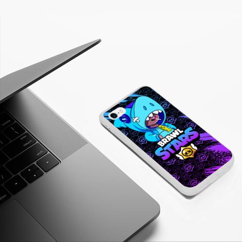 Чехол для iPhone 6/6S матовый BRAWL STARS LEON SHARK Фото 01