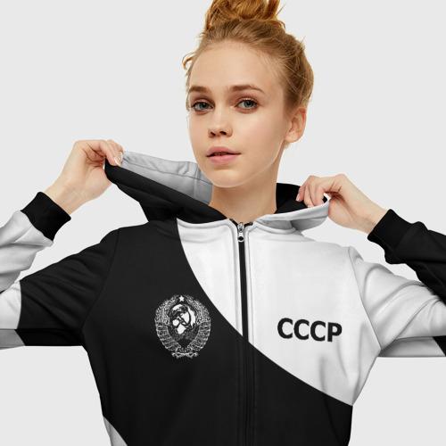 Женская толстовка 3D на молнии СССР  Фото 01