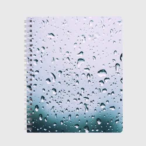 Капли окно стекло дождь серо