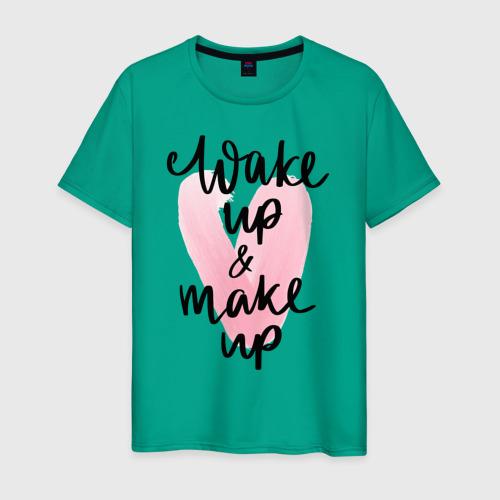 Мужская футболка хлопок Wake up & Make up Фото 01