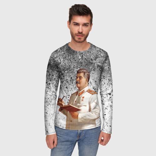 Мужской лонгслив 3D Сталин | Stalin за  1640 рублей в интернет магазине Принт виды с разных сторон