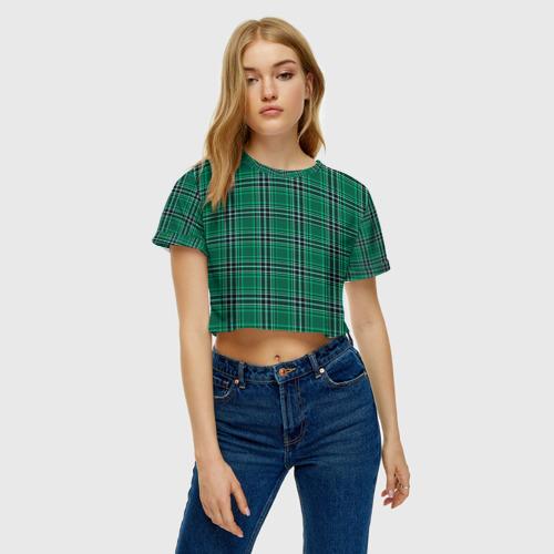 Женская футболка Crop-top 3D The Gentlemen Green Фото 01