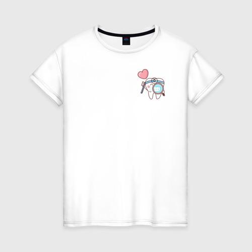 Женская футболка хлопок Зуб Фото 01