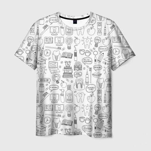Мужская футболка 3D дантист  Фото 01