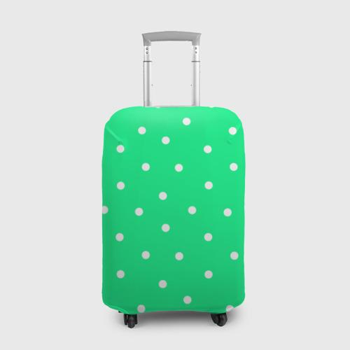 Чехол для чемодана 3D Горошек на зеленом Фото 01