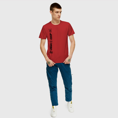Мужская футболка хлопок СССР - USSR Фото 01