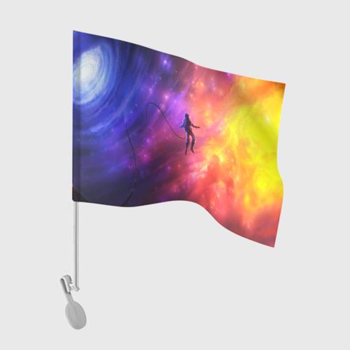 Флаг для автомобиля НЕОНОВЫЙ КОСМОС Фото 01