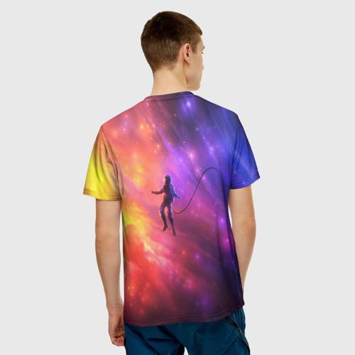 Мужская футболка 3D НЕОНОВЫЙ КОСМОС Фото 01