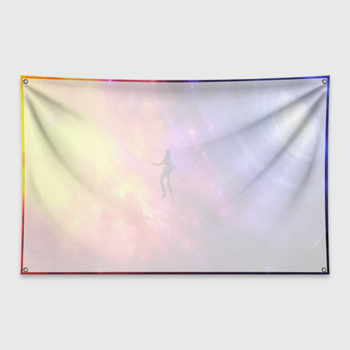 Флаг-баннер НЕОНОВЫЙ КОСМОС Фото 01