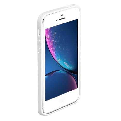 Чехол для iPhone 5/5S матовый НЕОНОВЫЙ КОСМОС Фото 01