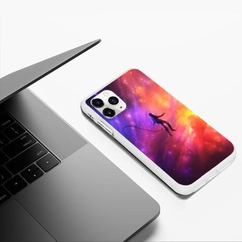Чехол для iPhone 11 Pro Max матовый НЕОНОВЫЙ КОСМОС Фото 01