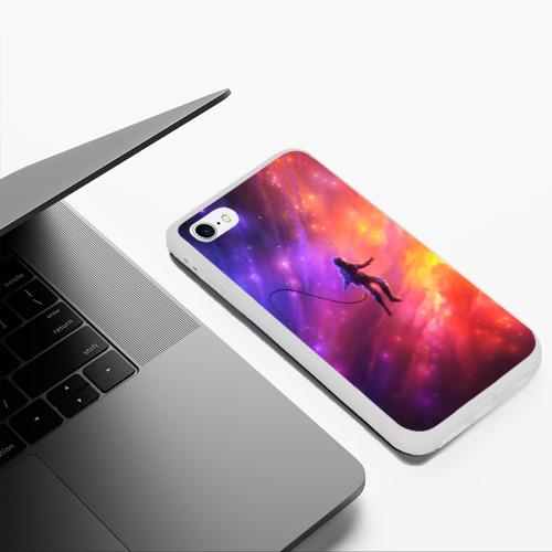 Чехол для iPhone 6Plus/6S Plus матовый НЕОНОВЫЙ КОСМОС Фото 01