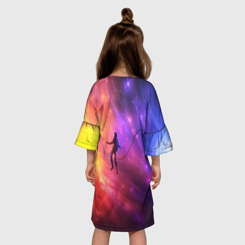 Детское платье 3D НЕОНОВЫЙ КОСМОС Фото 01