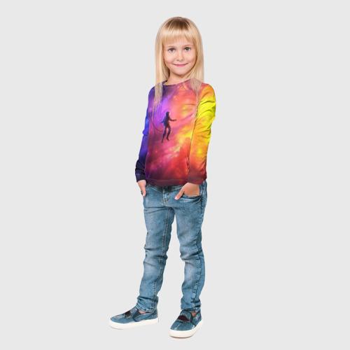 Детский лонгслив 3D НЕОНОВЫЙ КОСМОС Фото 01