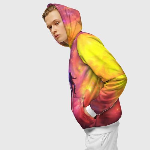Мужская толстовка 3D на молнии НЕОНОВЫЙ КОСМОС Фото 01