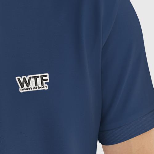 Мужское поло хлопок с вышивкой WTF Фото 01