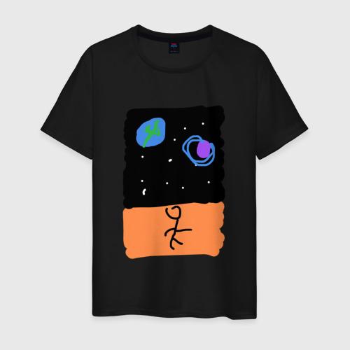 Мужская футболка хлопок Космический пляж Фото 01