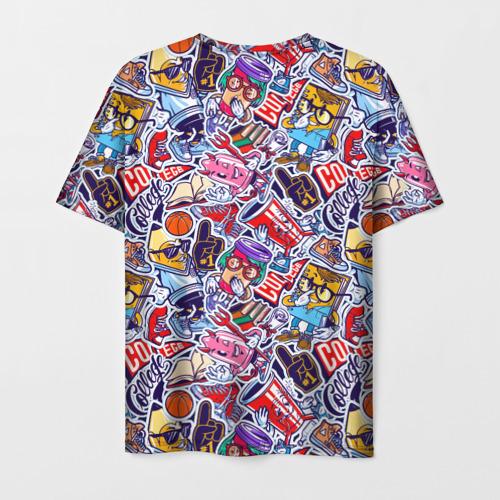 Мужская футболка 3D Стикерпак (Студент) Фото 01