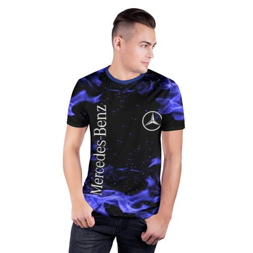 Мужская футболка 3D спортивная MERCEDES Фото 01