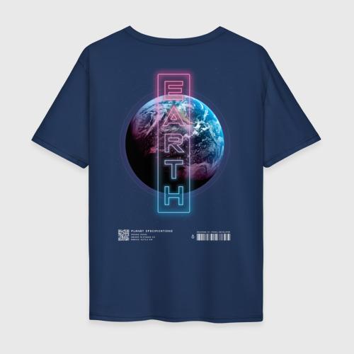 Мужская футболка хлопок Oversize EARTH (ЗЕМЛЯ) Фото 01