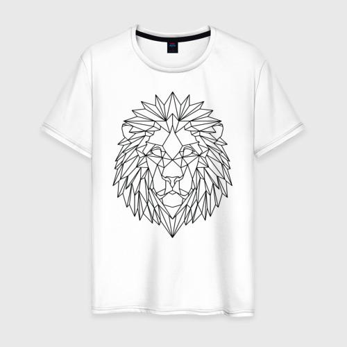 Мужская футболка хлопок Геометрический Лев Фото 01