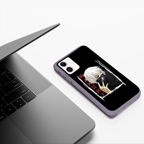 Чехол для iPhone 11 матовый Kaneki Фото 01