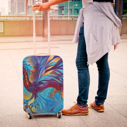 Чехол для чемодана 3D Blue Dragon Фото 01