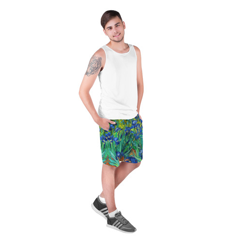 Мужские шорты 3D Ирисы Ван Гога Фото 01
