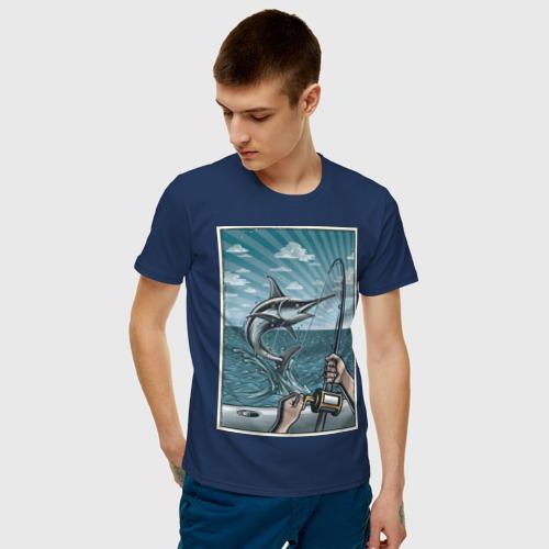 Мужская футболка хлопок рыбалка Фото 01