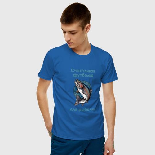Мужская футболка хлопок Счастливая рыбалка Фото 01