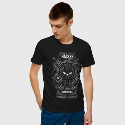 Мужская футболка хлопок Cyberpunk Hacker  Фото 01